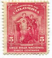 Lote CR5, Colombia, 1945, Sello, Stamp, Cruz Roja, Red Cross, Cruz Roja, Proteccion, Litografia Colombia - Colombia