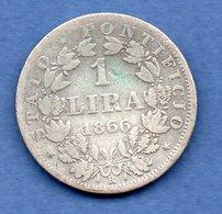 Vatican   - 1 Lira  1866 R   - Km # 1378 -  état TB  - - Vatican
