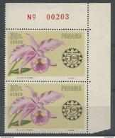 Panama - 1966 Orchid Corner Pair MNH **       Sc C345 - Panama