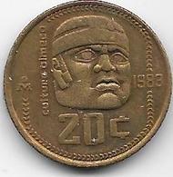 Mexique - 20 Centavos - 1983 - Mexico