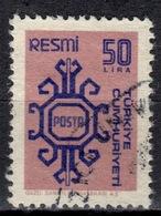 R+ Türkei 1981 Mi 162 Dienstmarke: Ornamente - 1921-... République