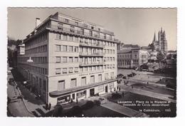 Suisse Vaud Lausanne Place De La Riponne Cercle Démocratique Auto Cabriolet N°1055 En 1946 VOIR DOS Tampon étonnant - VD Vaud