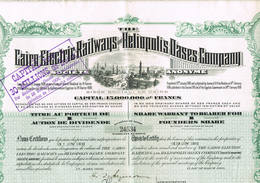 Cairo Electric Railways And Heliopolis Dases Company Manteau - Chemin De Fer & Tramway