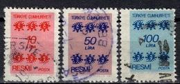 R+ Türkei 1981 Mi 164 166 168 Dienstmarke: Ornamente - 1921-... République