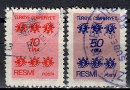 R+ Türkei 1981 Mi 164 166 Dienstmarke: Ornamente - 1921-... République