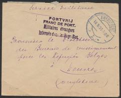 Guerre - Lettre En Service Militaire De Amersfoort (1925) Vers Douvres (Angleterre) / Réfugiés Belges - Marcophilie