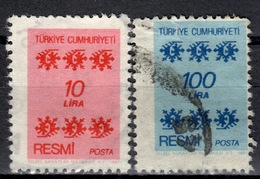 R+ Türkei 1981 Mi 164 168 Dienstmarke: Ornamente - 1921-... République