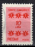 R+ Türkei 1981 Mi 164 Dienstmarke: Ornamente - 1921-... République