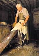 Métier Vieux Métiers Et Traditions LE TANNEUR ARTISANAL (tannage  Tannerie L'écharnage) (artisanat)(artisan)*PRIX FIXE - Artisanat