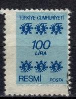 R+ Türkei 1981 Mi 168 Dienstmarke: Ornamente - 1921-... République