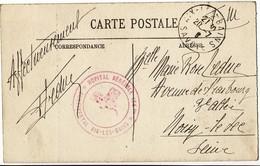 SAVOIE CP EN FM 1916 HOPITAL BENEVOLE 164 BIS AIX LES BAINS - Marcophilie (Lettres)