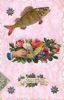 I36 - Fantaisie - 1er Avril - Poissons Et Fleurs Sont Messagers Du Coeur - April Fool's Day