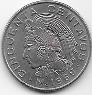 Mexique - 50 Centavos - 1969 - Mexico
