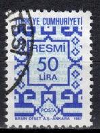 R+ Türkei 1987 Mi 184 Dienstmarke: Ornamente - 1921-... République