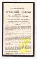 DP Nathalie S. VanHaelewyn ° Wijtschate Heuvelland 1856 † 1933 X Ch. Hossez Xx L. Knockaert - Images Religieuses