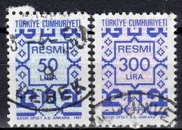R+ Türkei 1987 Mi 184-85 Dienstmarke: Ornamente - 1921-... République