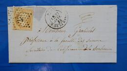 Lettre Etoile D Paris N° 25 R. De La Harpe Sur Napoleon N° 21 Pour La Sorbonne Paris - 1849-1876: Klassik