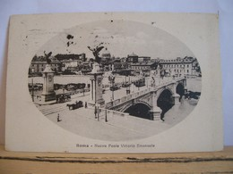 1918 - Roma -  Francobollo Da 5 Cent. - Nuovo Ponte V. Emanuele - Angeli - Filobus Tram Animata - Ponts