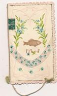 I36 - Fantaisie - 1er Avril - Poisson Et Fleurs - Carte Double - April Fool's Day