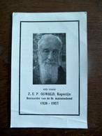 Doodsprentje  Z . E  . P  .  Oswald  Kapucijn 1957 - Overlijden