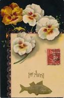 I36 - Fantaisie - 1er Avril - Poisson Et Fleurs - April Fool's Day