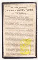 DP Clement VandeVivere ° Zonnebeke 1865 1856? † Wijtschate Heuvelland 1923 X Eulalie DeKnudt - Images Religieuses