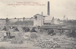 Lessines - Carrières Tacquenier à Lessines - Chantier De Retaille Et Usine à Concasser (29 Juin 1910) - Carte Rare - Lessen