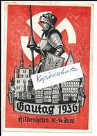 Propaganda, Hitler, Nazi, Drittes Reich, Hakenkreuz, Swastika, Gautag Hildesheim - Guerre 1939-45