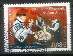 Escudella De Sant Antoni. Plat Typique De L'Andorre, Nouveau Timbre 2019, Oblitéré, 1 ère Qualité - Oblitérés