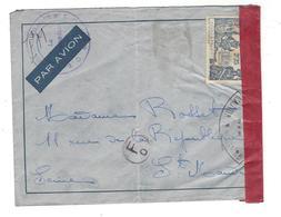 """CENSURE  FM  Timbre Soudan Français Cachet   """"  ...Auxiliaire N° 1  ....."""" Par Avion - Pas De Cad -  F O Dans Un Cercle - Sudan (1954-...)"""