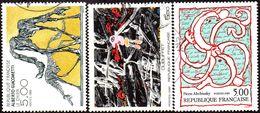 Oblitération Cachet à Date Sur Timbre De France N° 2381 à 2383 - Peintures. Oeuvres De Dubuffet, Alecchinsky, Giacometti - France