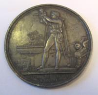 """France - Médaille Uniface """"Baptême Du Roi De Rome"""" Napoléon Par Andrieu En Métal Argenté (Bronze ?) - Royaux / De Noblesse"""