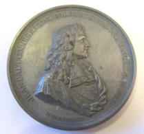 France - Grosse Médaille En étain, Jean Baptiste Colbert Contrôleur Général Des Finances - Signée Bertonnier - Royal / Of Nobility