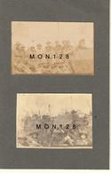VAUCRESSON 1922 SCOUTS DE FRANCE  - 2 PHOTOS 6,5x4 Cms COLLEES SUR CARTON FIN - Lieux