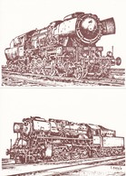 Luxembourg Luxemburg 8 Cards Trains Chemin De Fer Luxembourgeois Locomotives Serie 1 - Treinen