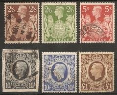 GREAT BRITAIN 1939 - 1948 SET SG 476/478c FINE USED Cat £60 - 1902-1951 (Kings)
