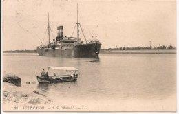 """L200A075 - Bateau De Commerce """"S.S Rostock"""" - Suez Canal - LL  N°25 - Commerce"""