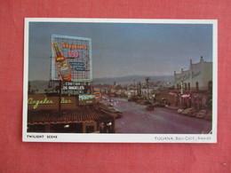 Twilight Scene Seagram's V.O. Sign  Tijuana Baja Calif  Mexico Has Stamp & Cancel      Ref 3136 - Mexico