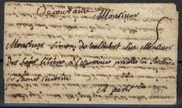 Coutance, Manche, Manuscrit De 1726 Pour Paris - Manuscripts