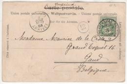 Carte Postale Envoyée De Beatenberg Vers Gand En Belgique - 1882-1906 Armoiries, Helvetia Debout & UPU