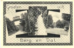 Berg En Dal, Groeten Uit B En D.      (Een Raster Op De Kaart Is Veroorzaakt Door Het Scannen;de Afbeelding Is Helder) - Nijmegen