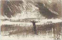 Cpa Montgenèvre – Carte-photo Concours Militaire, Saut à Ski - France