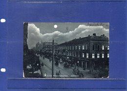 ##(ROYBOX1)- Postcards - Poland - Warszawa -  Ulica Marszalkowska - Animated -  Used 1904 - Polonia