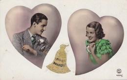 Couple D'amoureus, Couple In Love, PC PAris, 2 Hearts, Coeurs (pk54331) - Couples