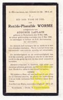 DP Renilde P. Worme ° Wijtschate Heuvelland 1889 † 1932 X Aug. LaPlace - Images Religieuses