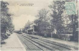 Cpa 06 – Puget Sur Argens – La Gare Du P.L.M. - Autres Communes