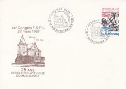Luxembourg Luxemburg 44 Congrés F S P L 28-03-1987 - Trains