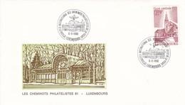 Luxembourg Luxemburg 12 Congres Int  Les Cheminots Philatélistes 06-09-1980 - Trains