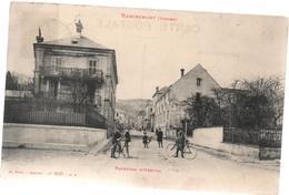 Cpa B46 REMIREMONT Faubourg D'Hérival-belle Animation-cyclistes-enfants-maisons - Remiremont