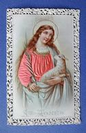 IMAGE PIEUSE  CANIVET ....SAINTE AGNES...VÊTEMENT EN SOIE ROSE.. - Devotion Images